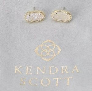 Kendra Scott Ellie Gold Iridescent Drusy Earrings
